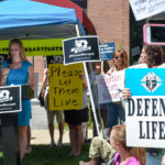 Planned Parenthood Protest with KofC Signs