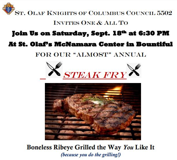 Steak Fry at Council 5502 in Bountiful
